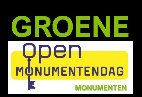 Groene deelnemers aan de Open Monumentendag 11/12 september