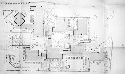 Het tuinontwerp voor het Rosa Spierhuis van Mien Ruys
